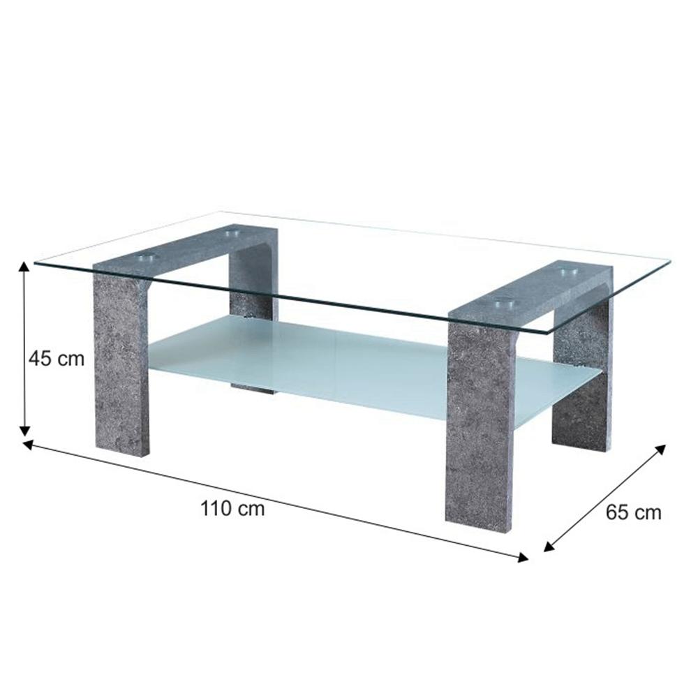 Konferenční stolek, beton, BELTON, TEMPO KONDELA
