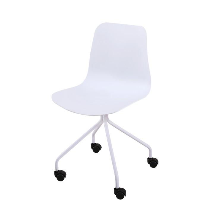irodai szék kereken , fehér, DANELA 1658-S