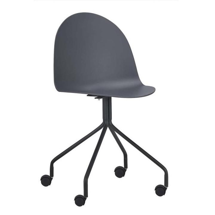 Kancelárska stolička, tmavosivá/čierna, BRUNA