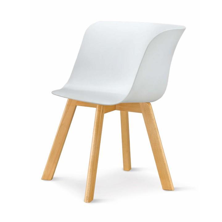 modern design szék, fehér/bukkfa, LEVIN 1656
