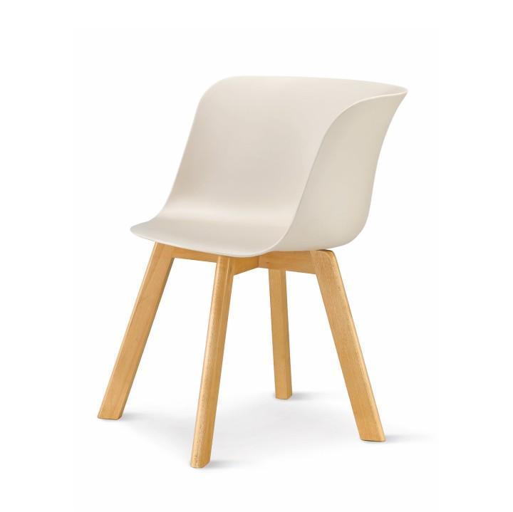modern design szék, bézs+ bükkfa, LEVIN 1656