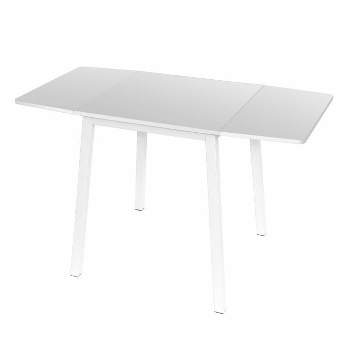 MAURO - jidelní stůl, MDF foliovaná / kov, bílá, TEMPO KONDELA