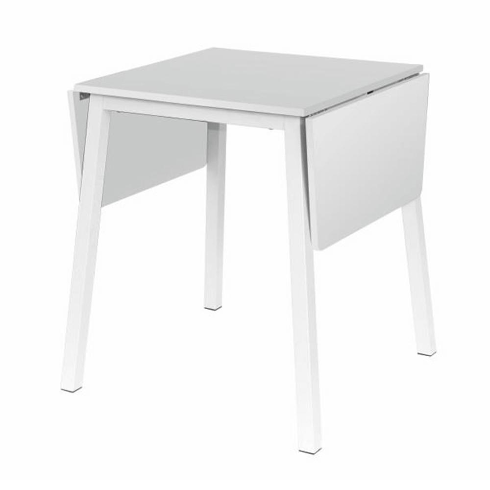 Jídelní stůl, MDF foliovaná / kov, bílá, MAURO, TEMPO KONDELA