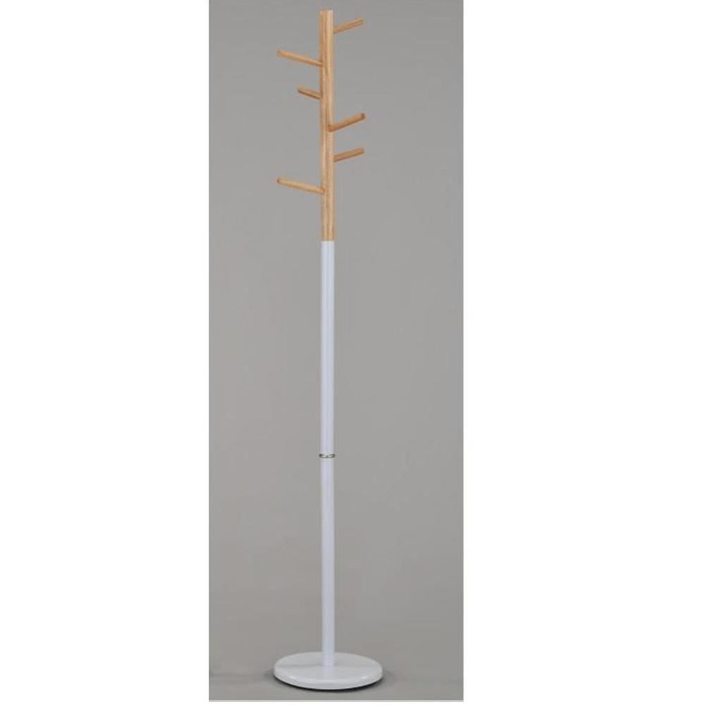 Věšák, dřevo přírodní / kov bílý, HORST, TEMPO KONDELA