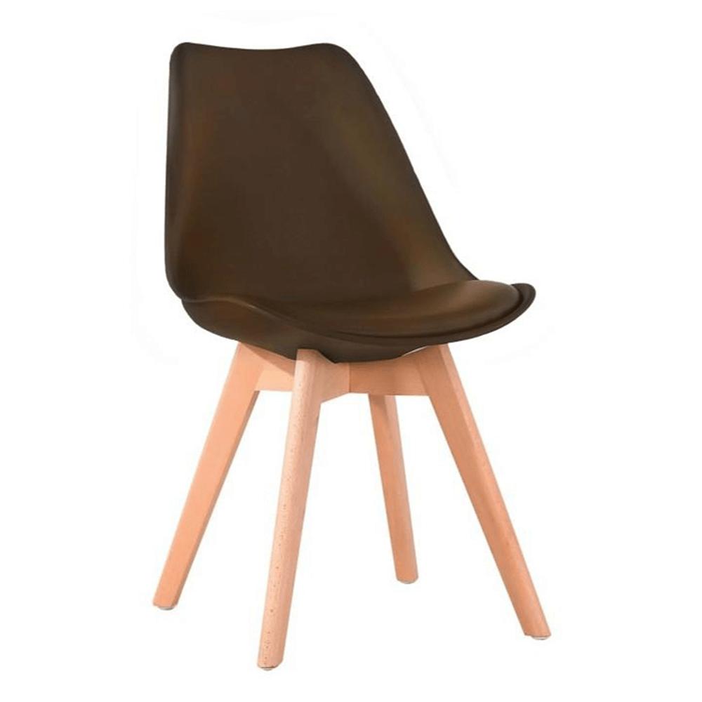 Stolička, tmavohnedá/buk, BALI NEW
