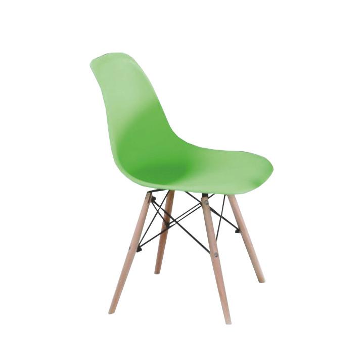 Stolička, zelená/buk, CINKLA 2 NEW