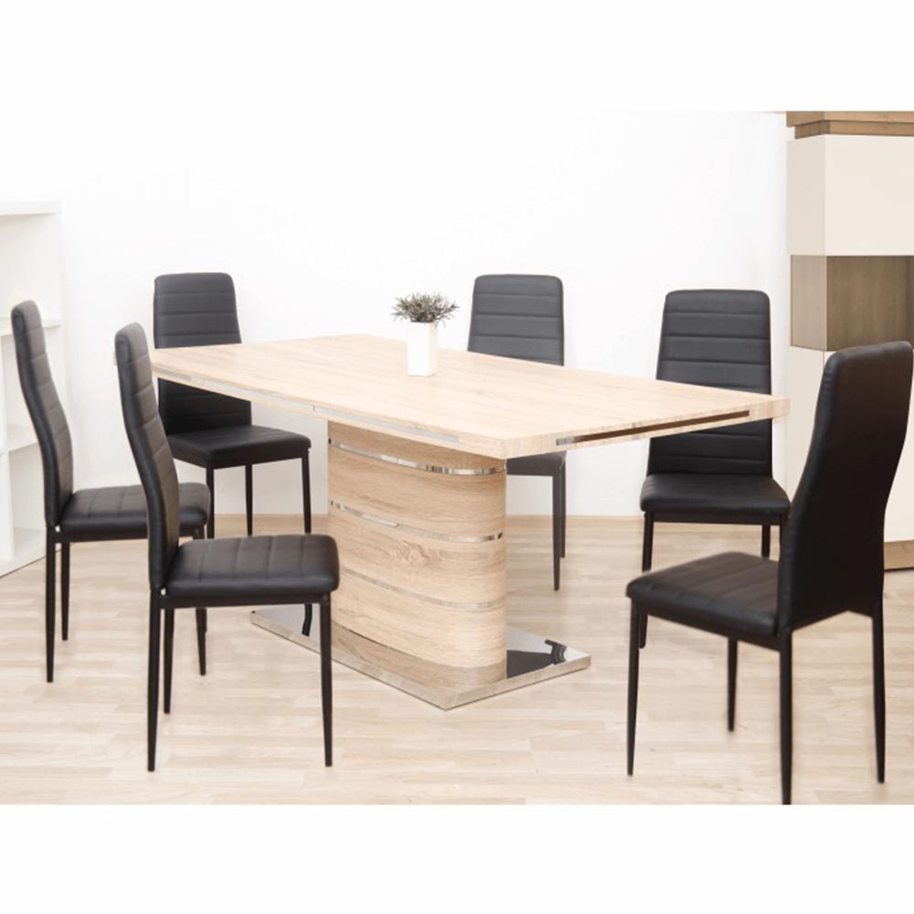 Jídelní stůl, MDF, dub sonoma, AMAR, TEMPO KONDELA