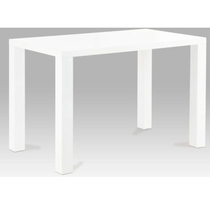 Étkezőasztal 120, fehér extra magas fényű HG, ASPER