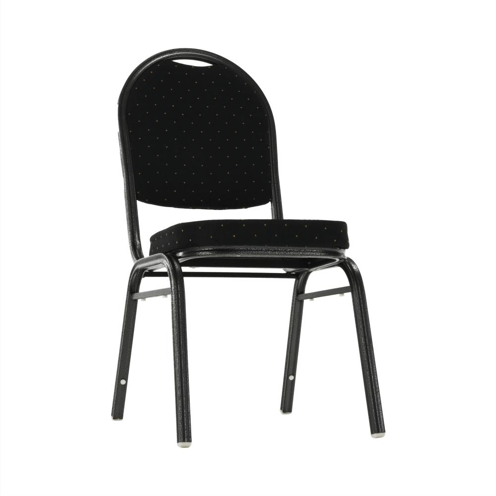 Židle, stohovatelná, látka černá / rám šedý, JEFF 2 NEW, TEMPO KONDELA