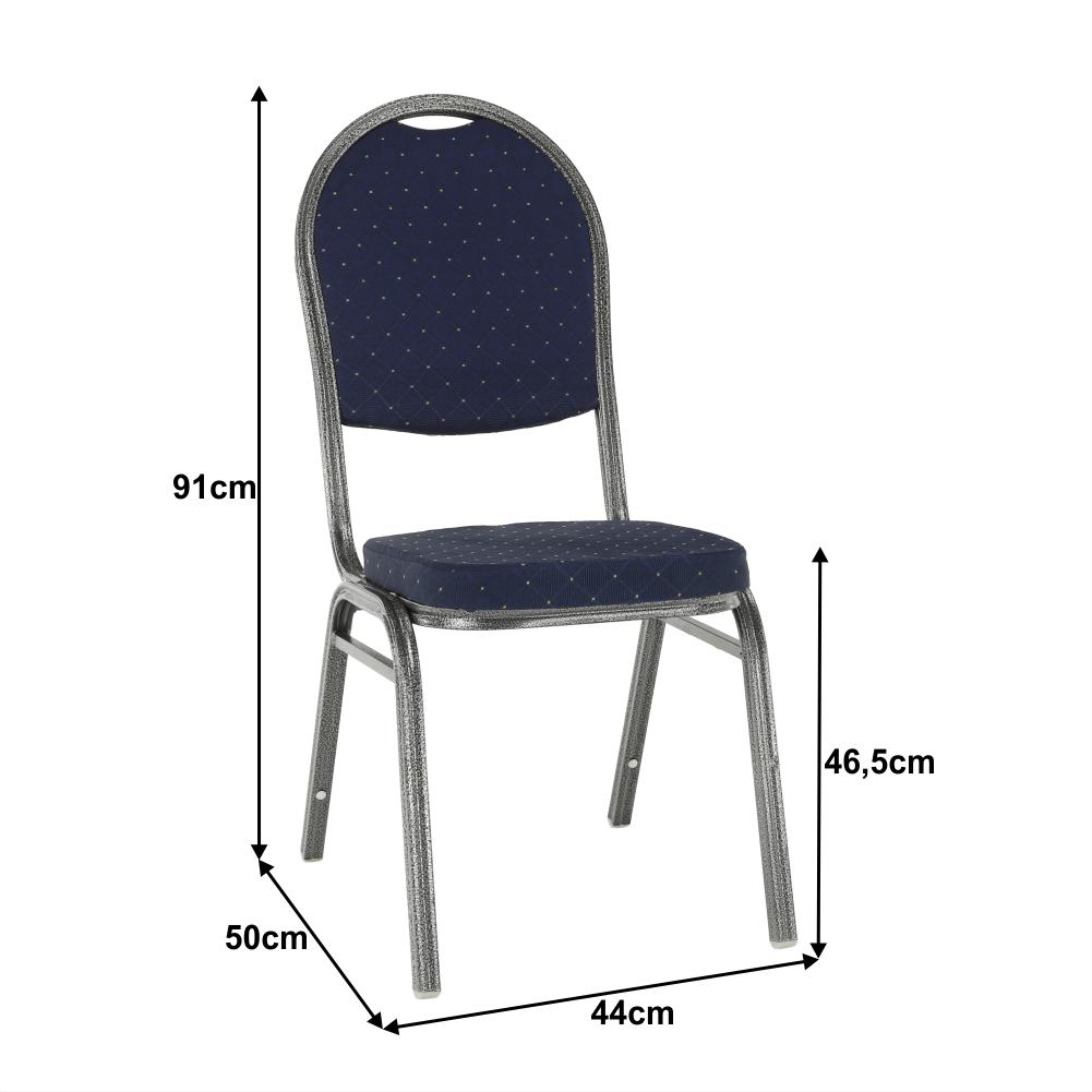 Rakásolható szék, kék szövet/szürke váz, JEFF 2 NEW