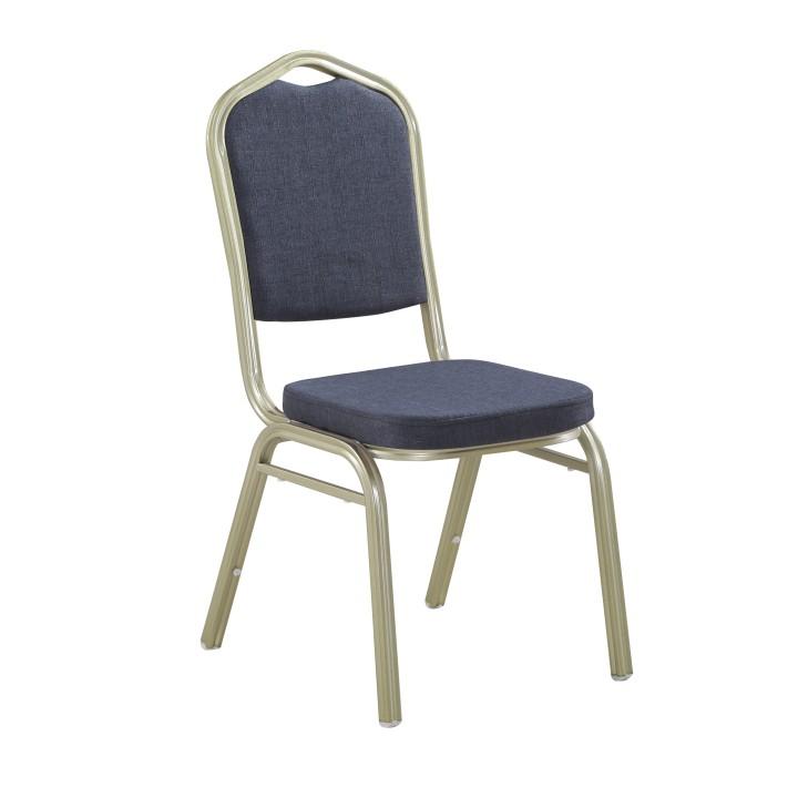 TEMPO KONDELA Stohovateľná stolička, sivá/champagne, ZINA 2 NEW