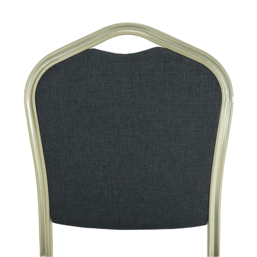 Stohovatelná židle, šedá/champagne, ZINA 2 NEW, TEMPO KONDELA