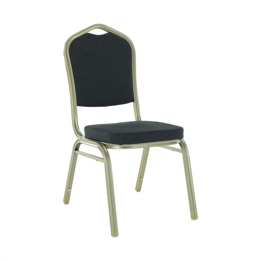 Stohovateľná stolička, sivá/champagne, ZINA 2 NEW