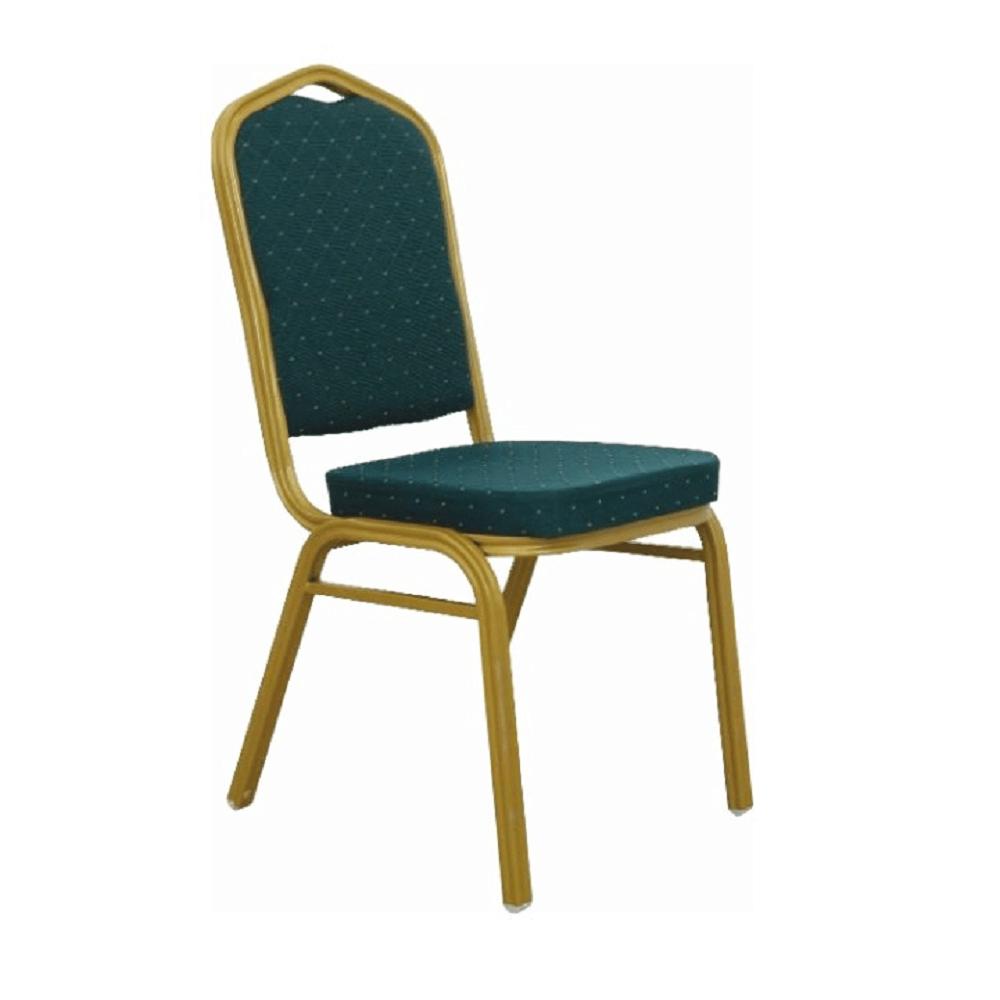 Stohovatelná židle, zelená / matný zlatý rám, ZINA 2 NEW, TEMPO KONDELA