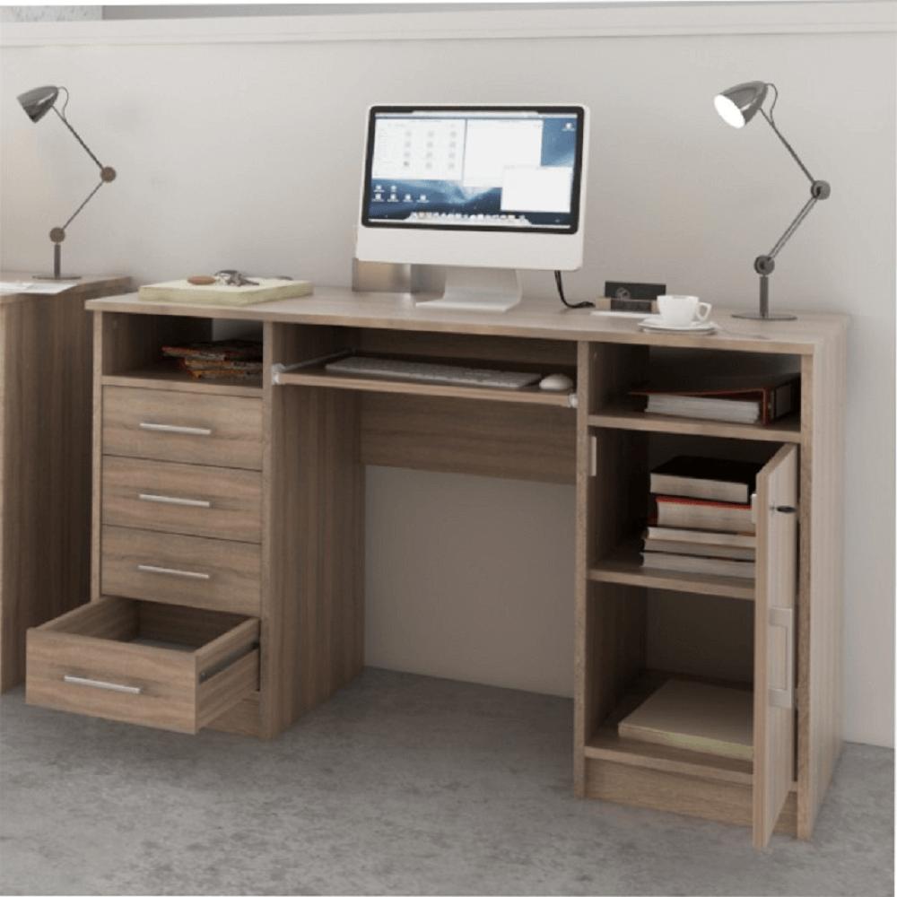 PC stůl, dub sonoma, B9 NEW, TEMPO KONDELA