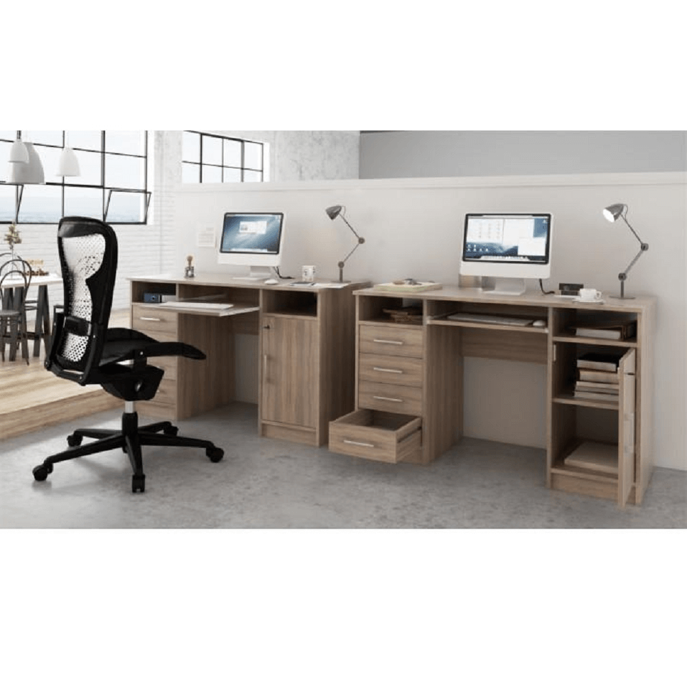 Számítógépasztal, sonoma tölgy, B9 NEW