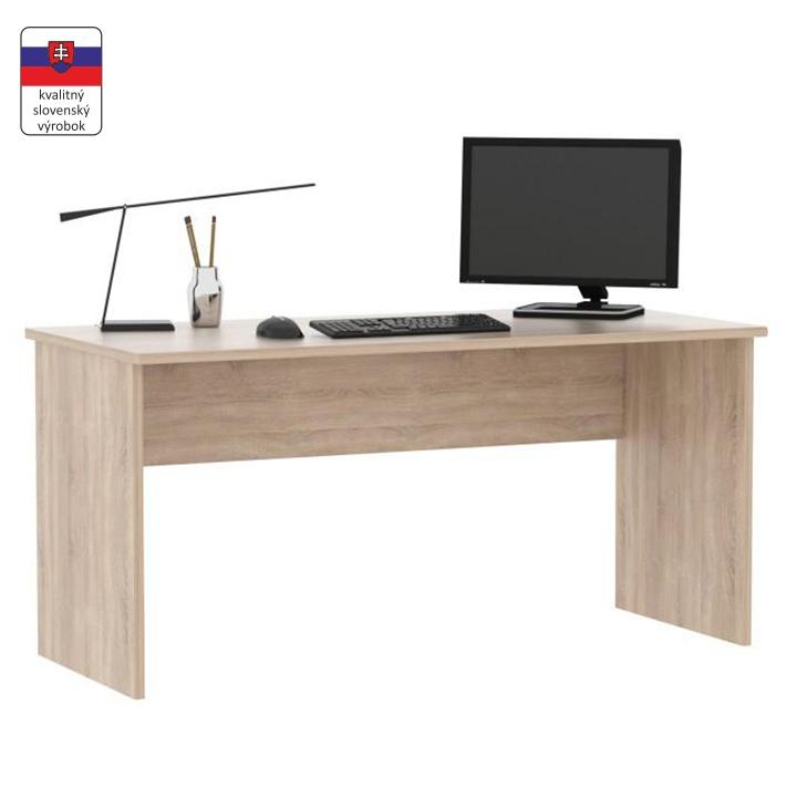 Písací stôl, dub sonoma, JOHAN NEW 01