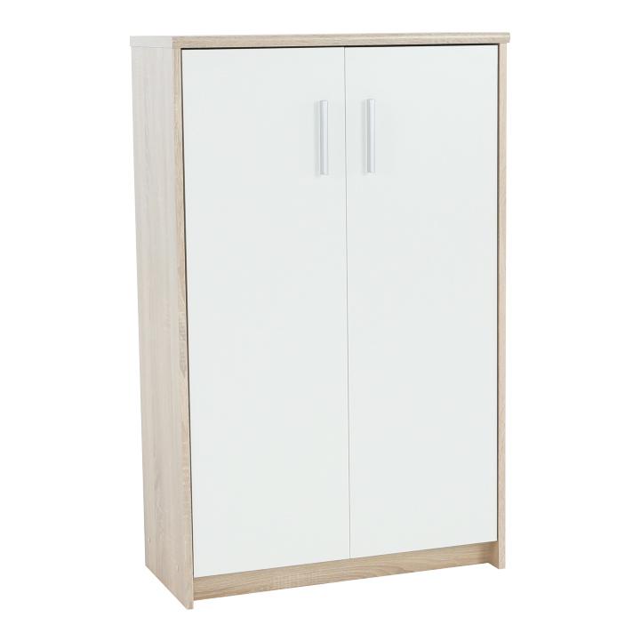 Irodai szekrény, sonoma tölgyfa/fehér, JOHAN NEW 13