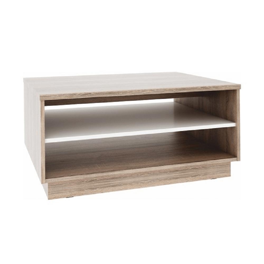 Konferenční stolek, dub sonoma / bílá, VAVRO NEW