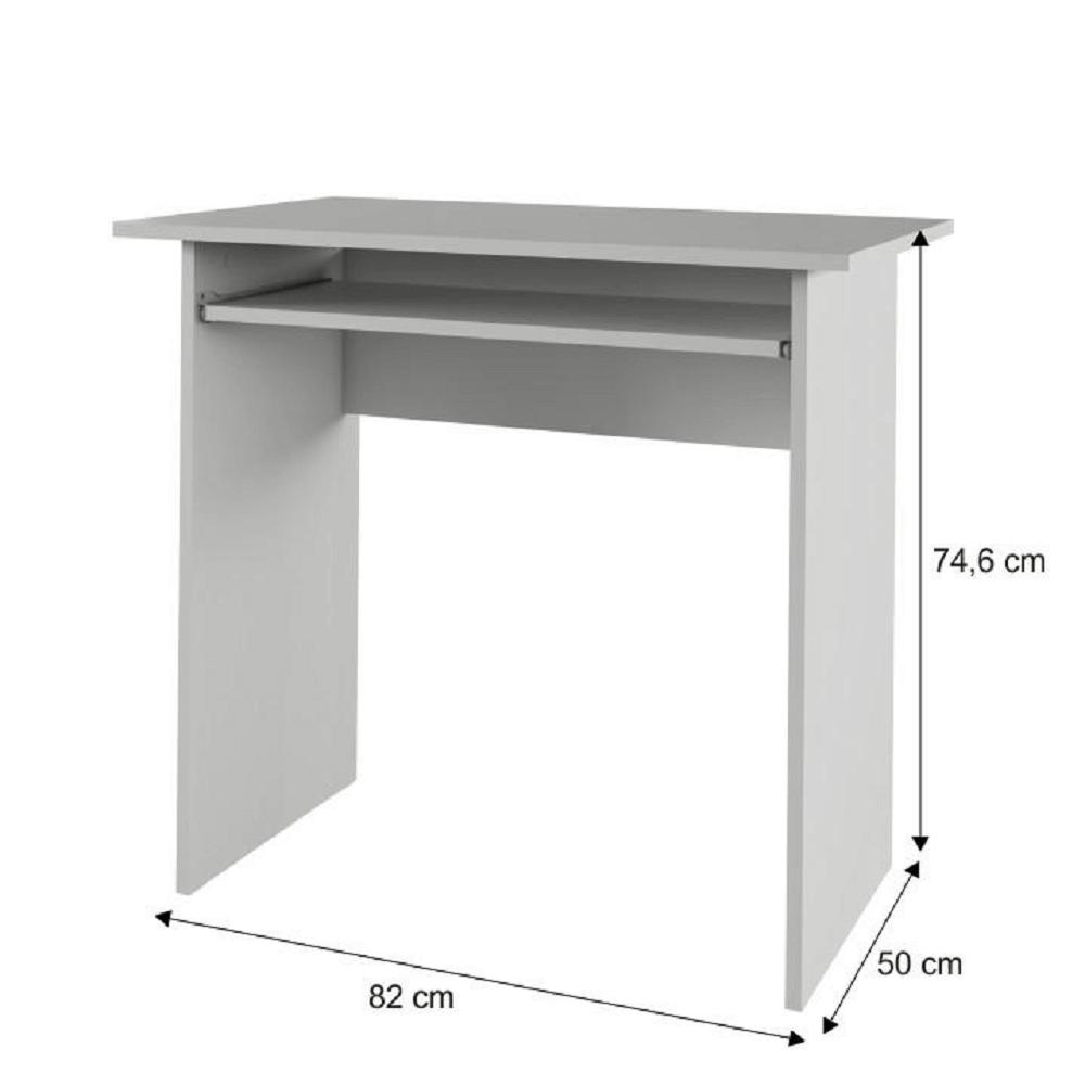 Számítógépasztal, fehér, VERNER NEW