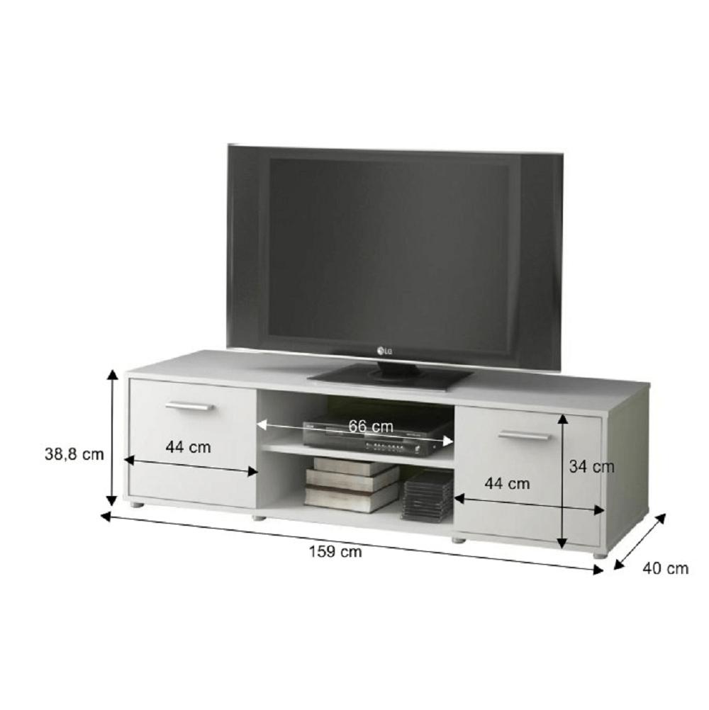TV asztal/szekrény, fehér ZUNO NEW