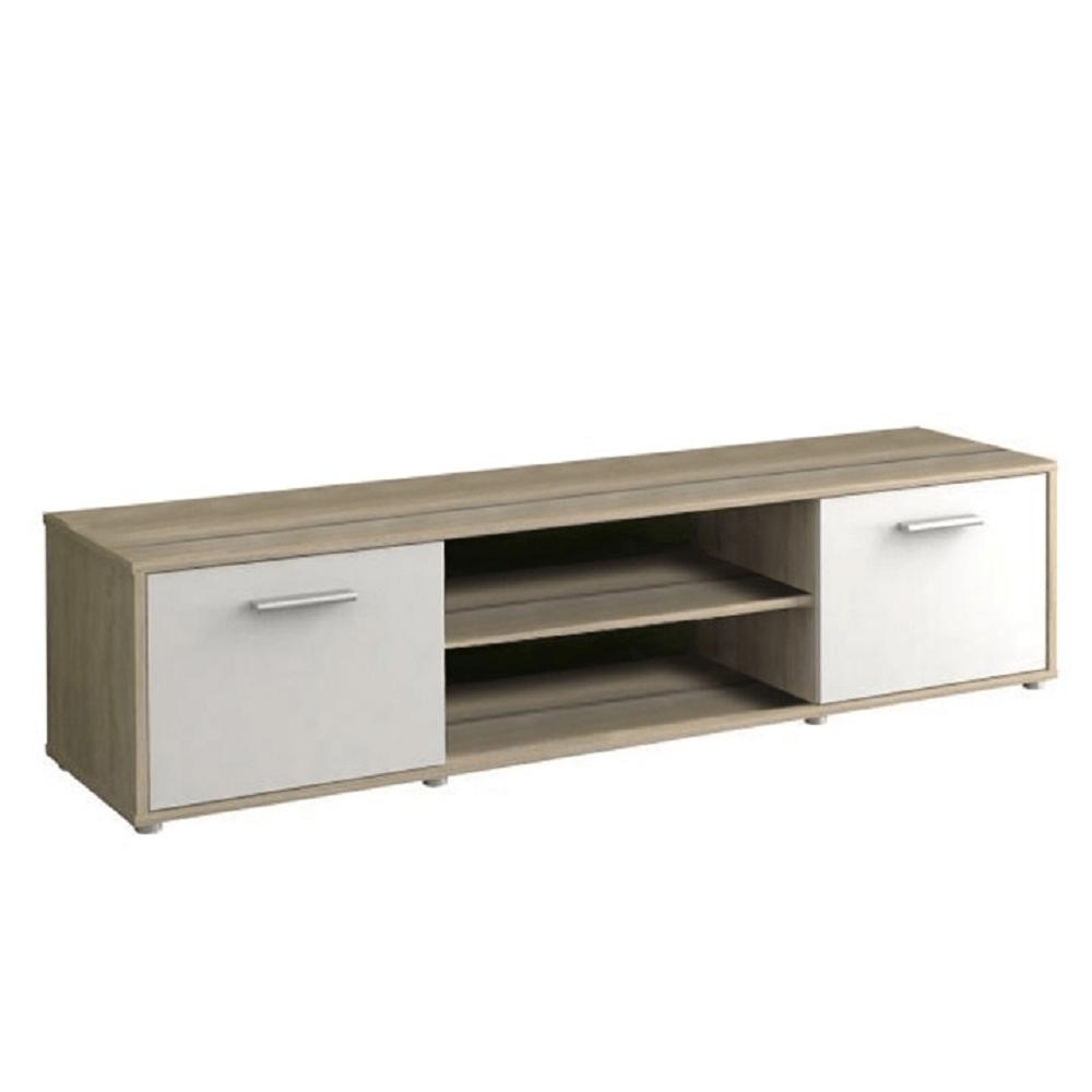TV stolík, dub sonoma/biela, ZUNO NEW 01
