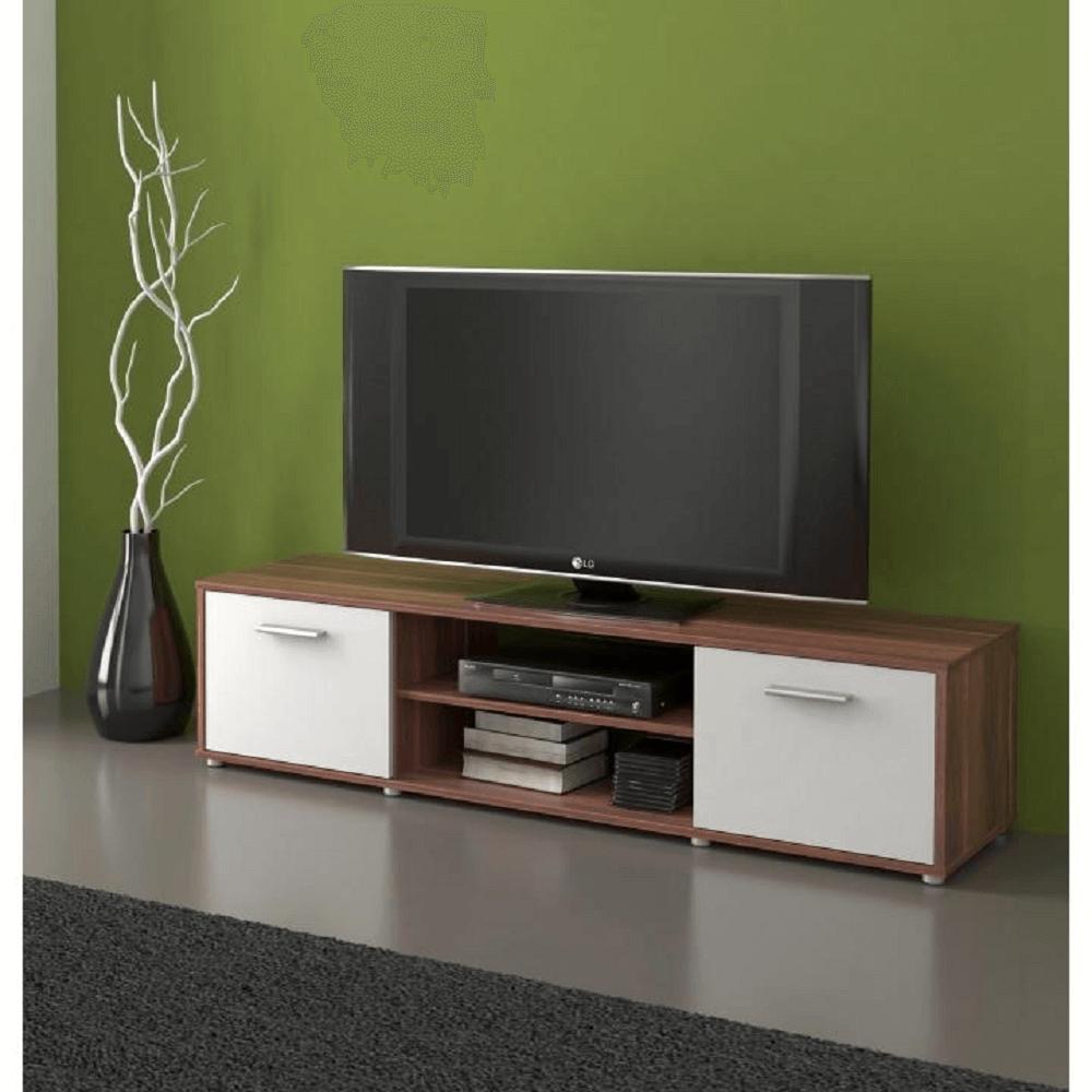 TV asztal/szekrény, szilva/fehér ZUNO NEW