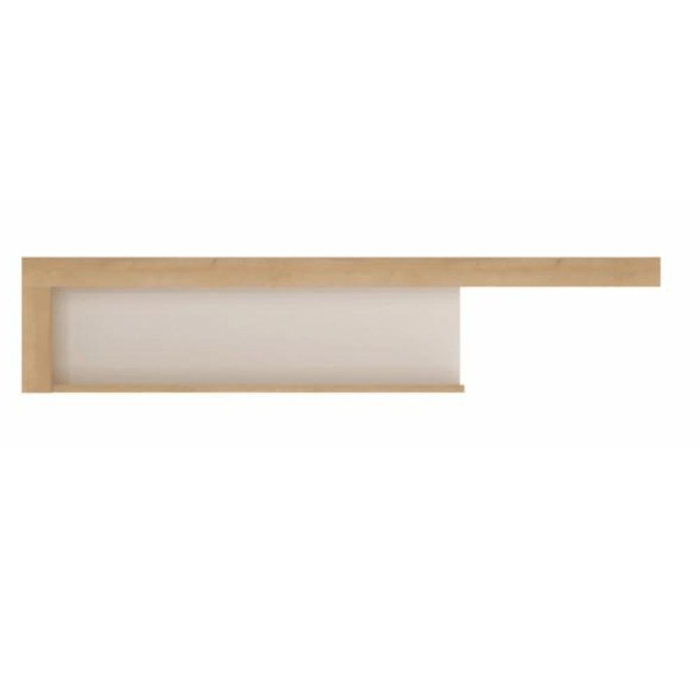 Polc LYOP03, tölgy riviera/fehér extra magasfényű, LEONARDO