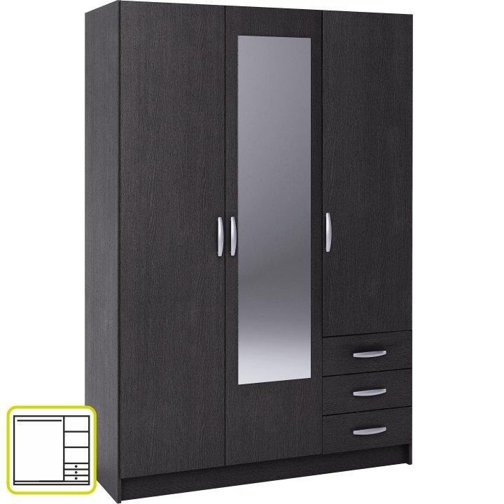 3 ajtós szekrény, ébenfa, SLOT 400824