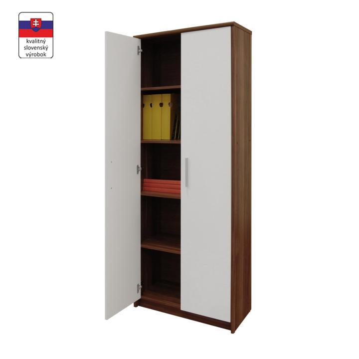 5 fiókos szekrény, szilvafa/fehér, JOHAN NEW 05