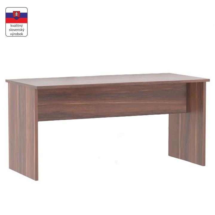 Písací stôl, obojstranný, slivka, JOHAN NEW 08 JH112
