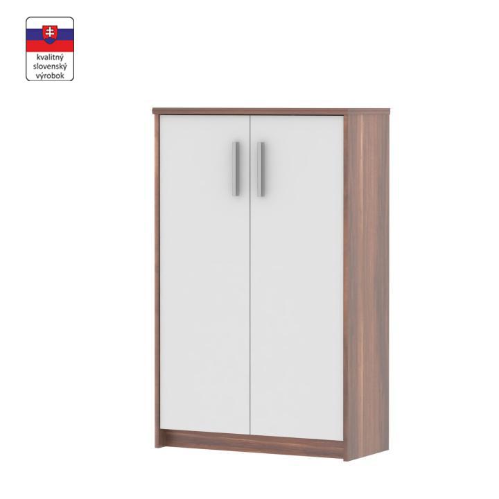 Irodai szekrény, szilvafa/fehér, JOHAN NEW 13 JH033