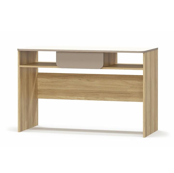 PC stôl 1S/120, DTD laminovaná, dub jačmenný/champagne/capucino, LOTTY