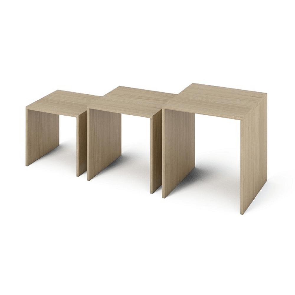 SIPANI NEW, három kis asztalból álló szett, Szín: sonoma tölgyfa.