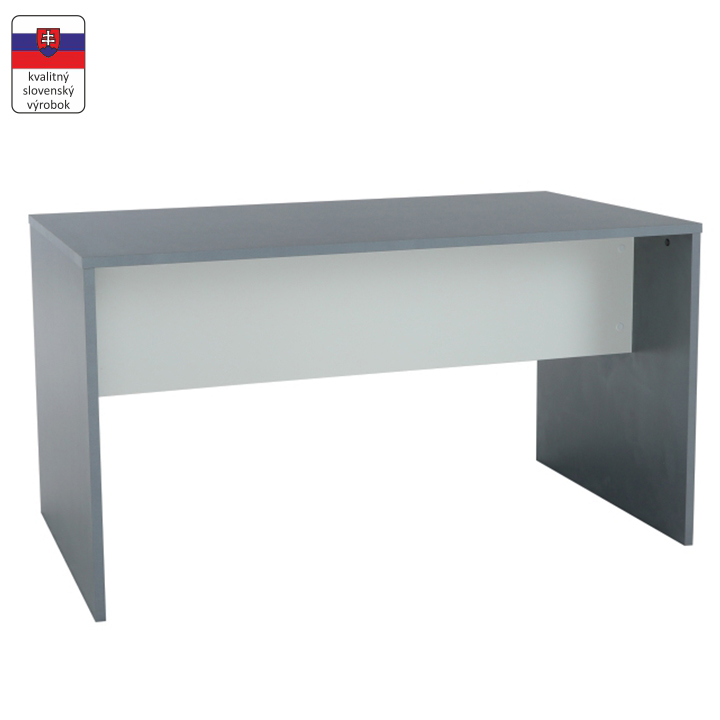 TEMPO KONDELA PC stôl, grafit/biela, RIOMA TYP 11