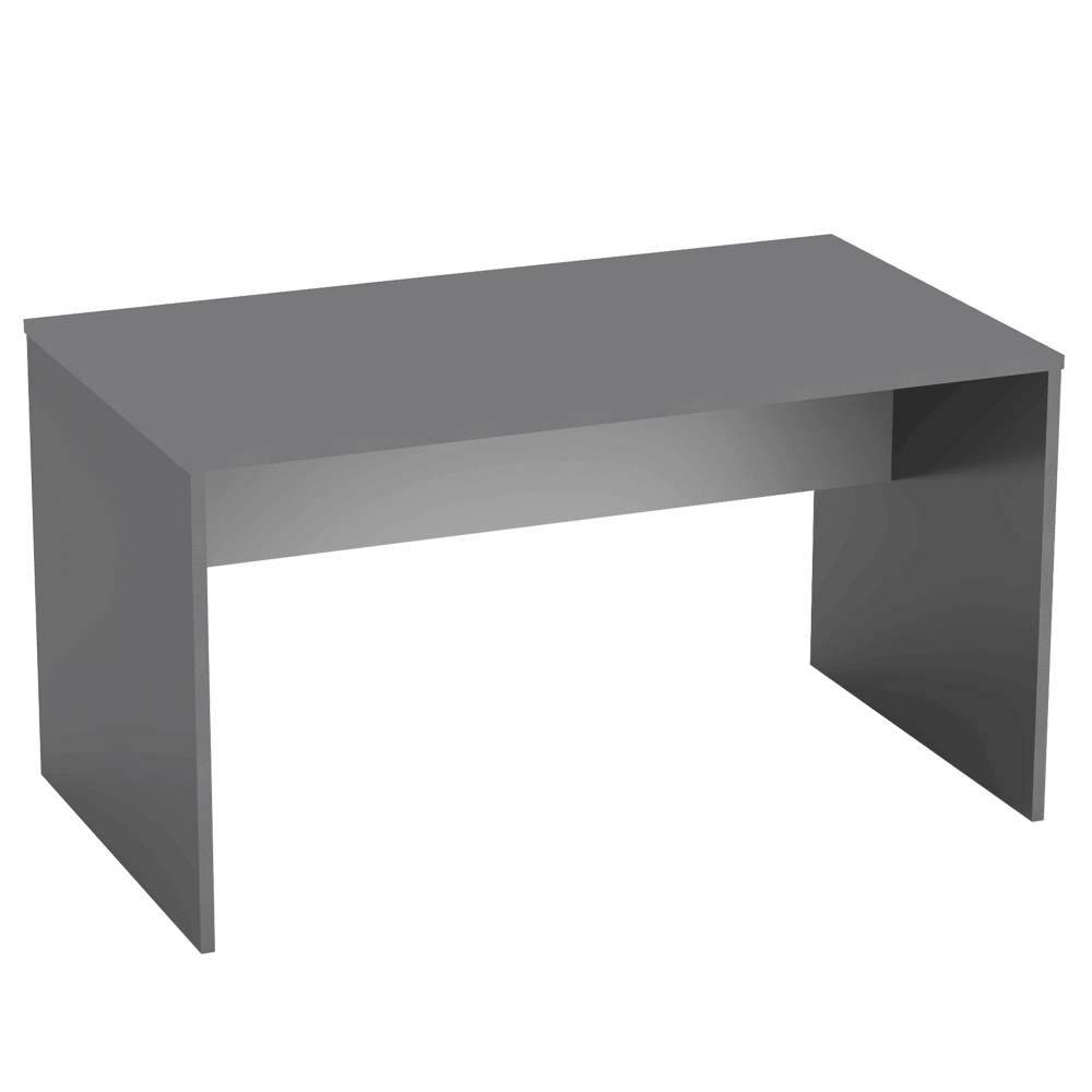 Psací stůl, grafit / bílá, RIOMA NEW TYP 11, TEMPO KONDELA