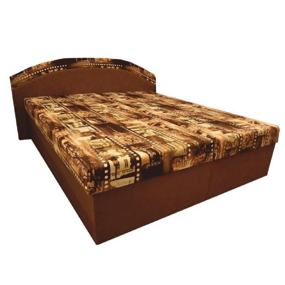 Manželská postel s úložným prostorem, s pěnovou matrací, 165x195 cm, PETRA