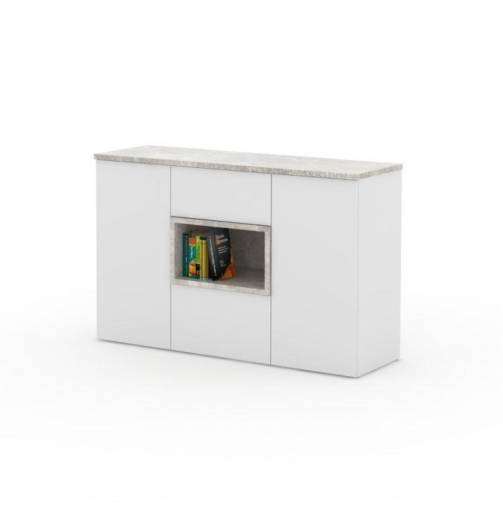 komód,fehér/beton,faris 03