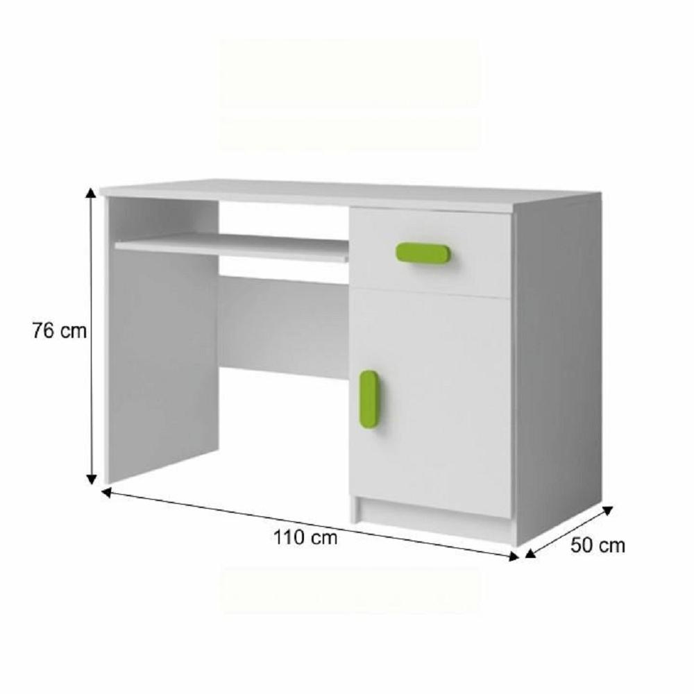 masă PC, fără mânere, alb, SVEND Tip 9