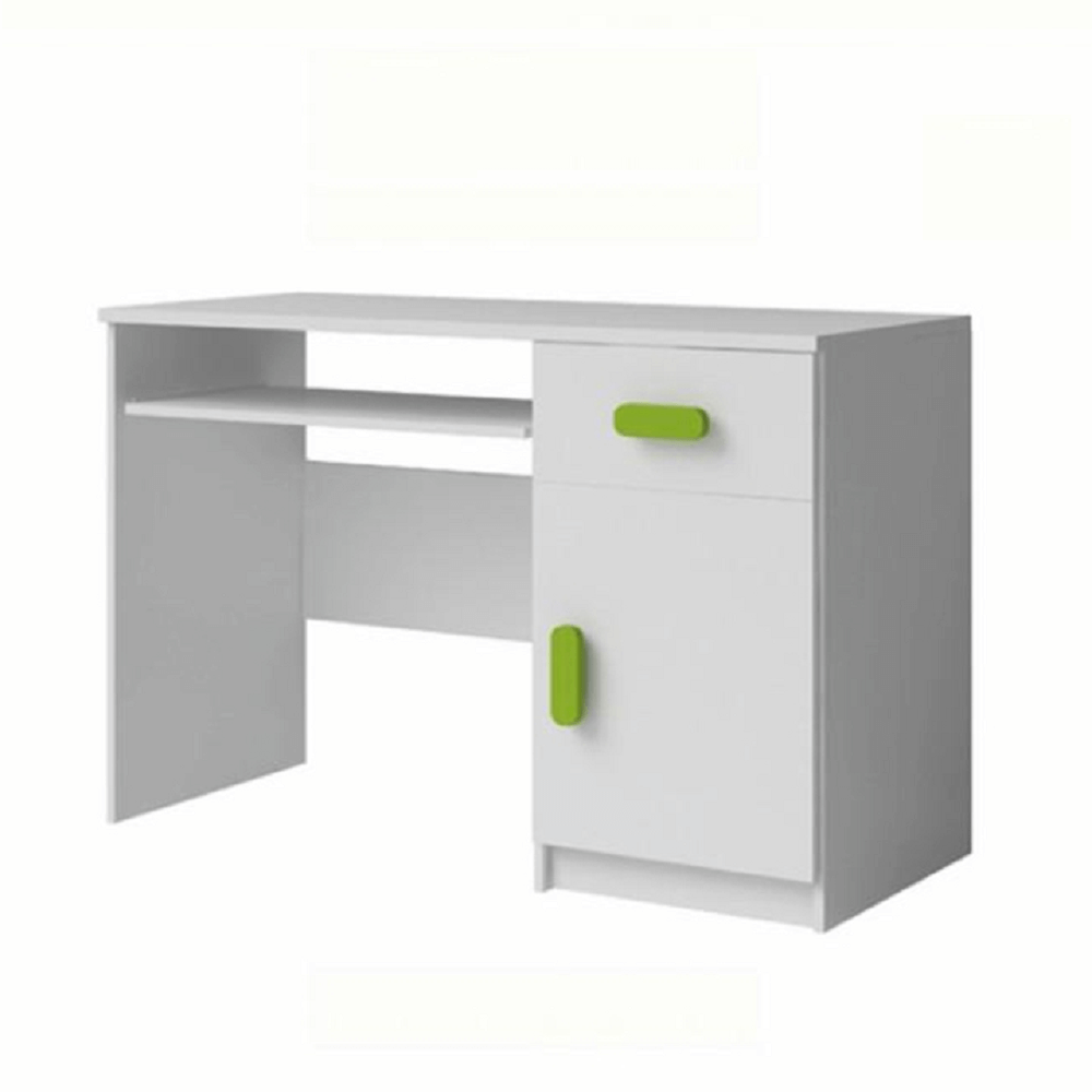 PC stôl, bez úchytiek, biela, SVEND TYP 8