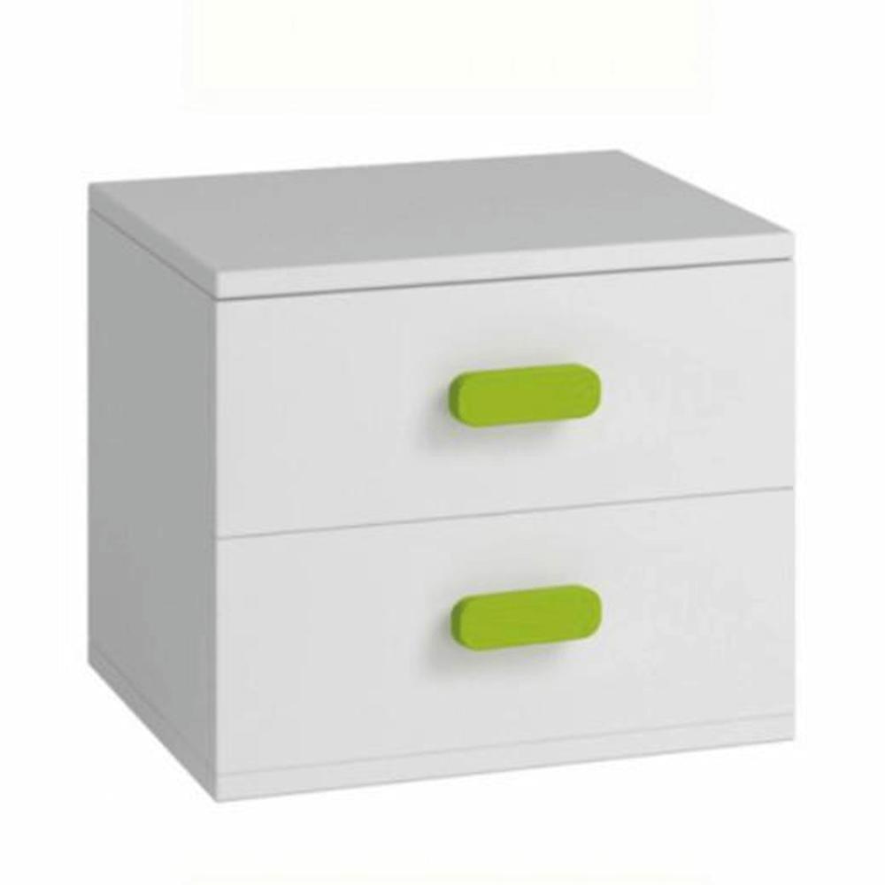 Noční stolek, bez úchytek, bílá, SVEND TYP 22