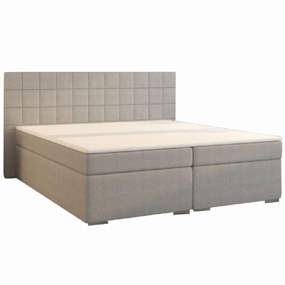 Boxspring ágy, 180x200, szürke, NAPOLI MEGAKOMFORT
