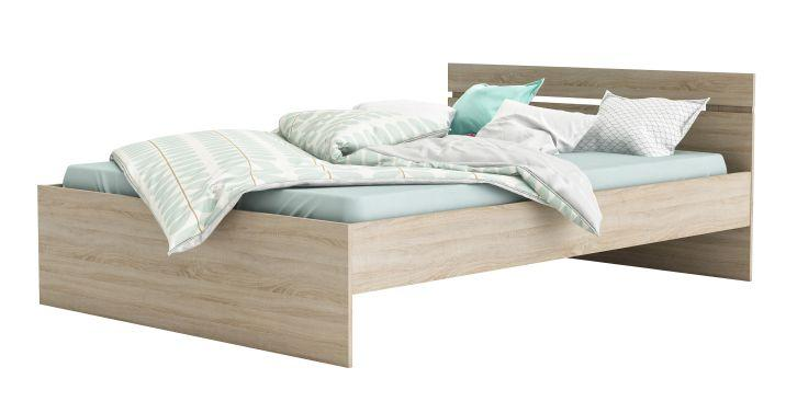 Ágy fiókokkal, 140x200, sonoma tölgy, MICHIGAN