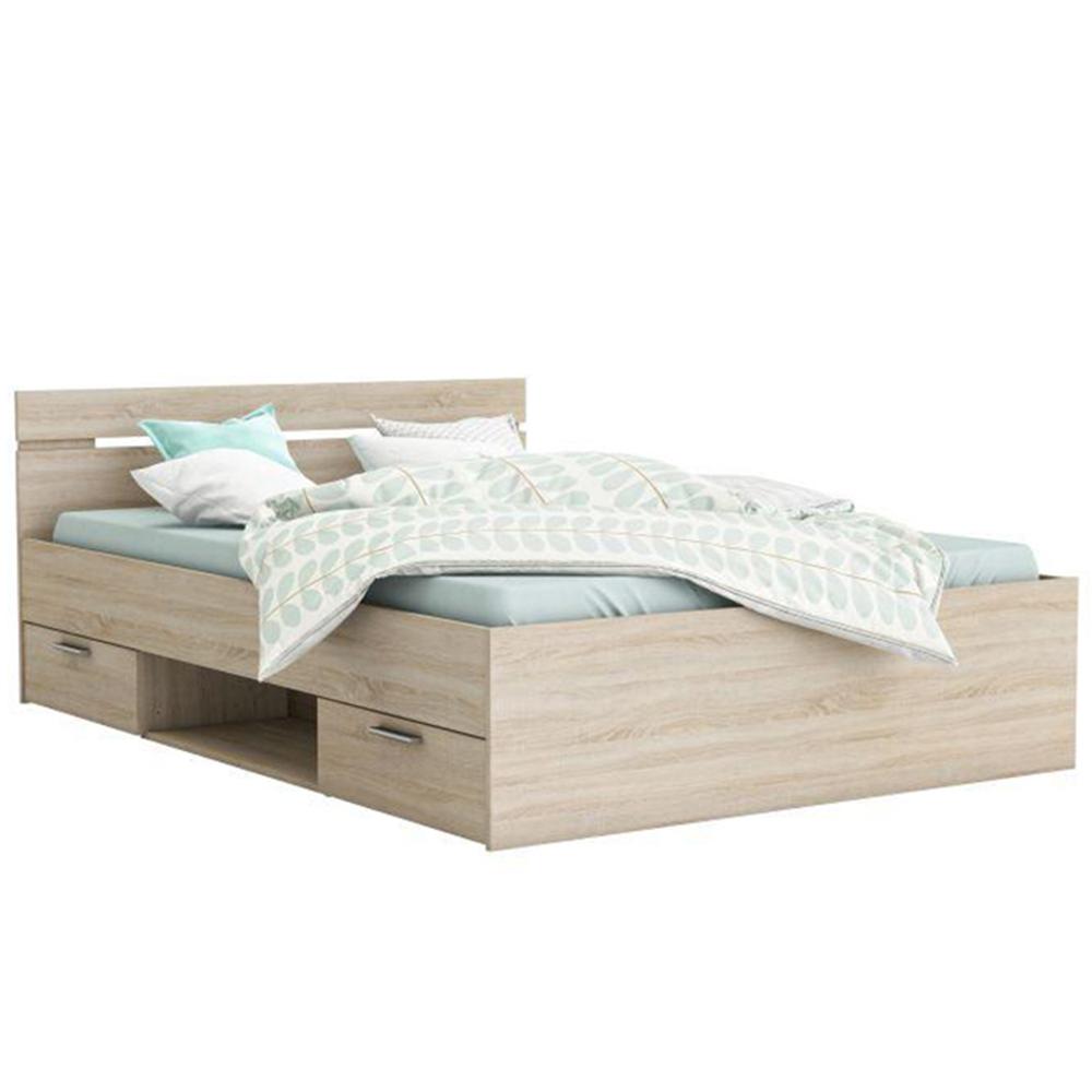 Ágykeret, 140x200, sonoma tölgyfa, MICHIGAN
