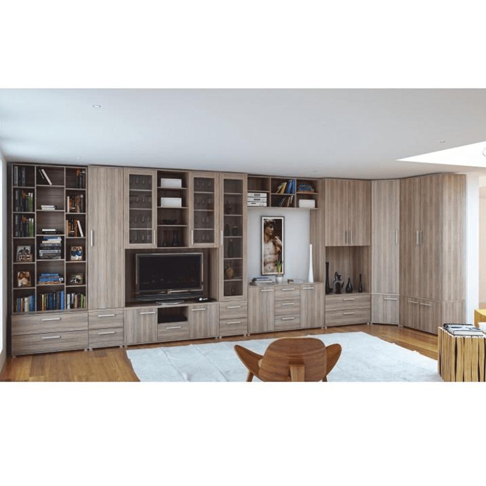 Alacsony szekrény 2-ajtós, DTD laminált, tölgy sonoma, DUNAJ TYP7