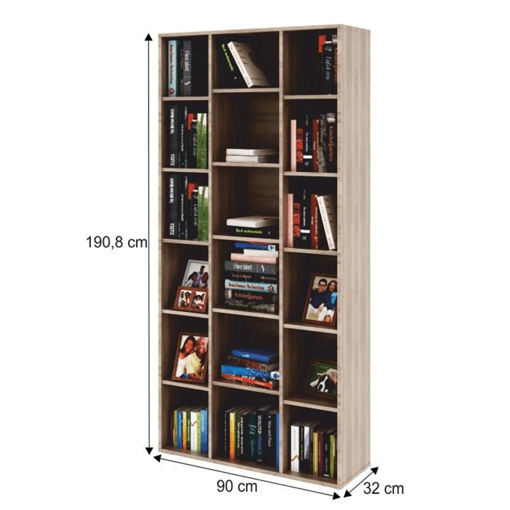 Dulap biblioraft înalt, PAL melaminat, stejar sonoma, DUNAJ  Tip13
