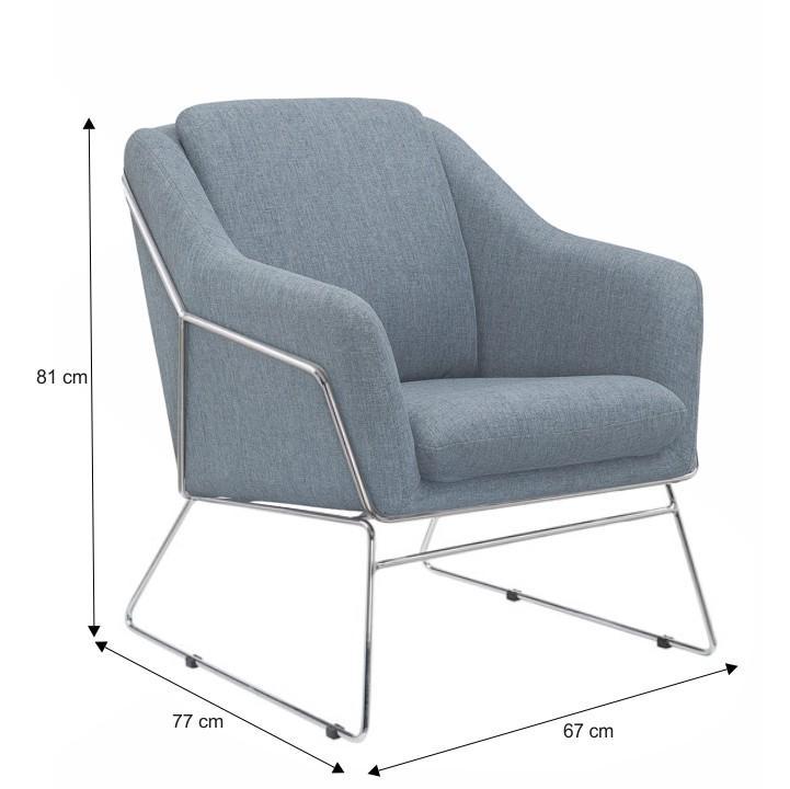 Relaxáló fotel, sötétszürke szövet/króm, SIENO