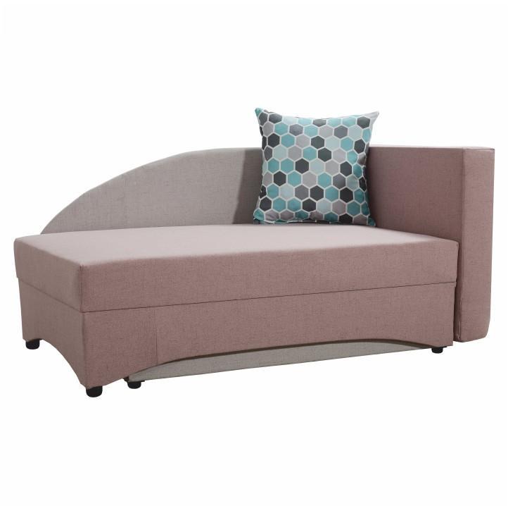divány,ágyazható,jobbos,szövet cablo rózsaszin púder/világos szürke,bella