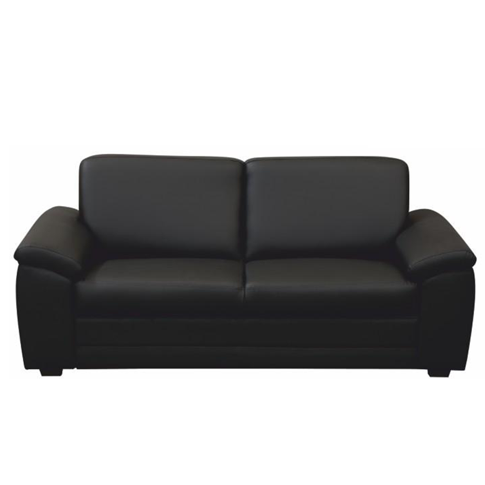 3- személyes kanapé támasztékokkal, textilbőr fekete, BITER