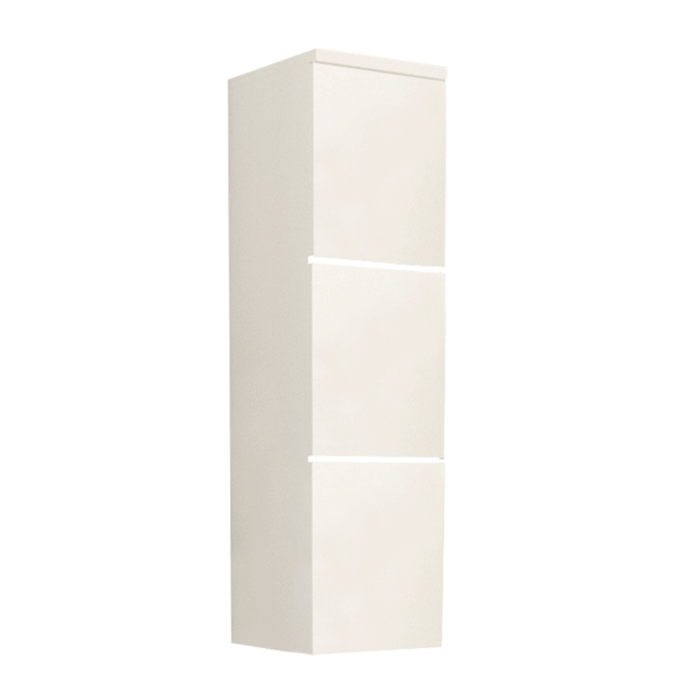 Skrinka vysoká, biela/biely extra vysoký lesk HG, MASON WH11